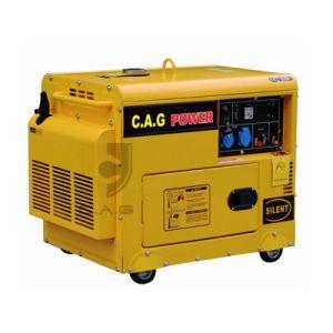 Schalldichter Dieselenergien-Generator des einphasig-5kw/5kVA/5000watt