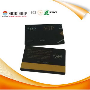 Carte en plastique de Discout d'excellente de Cr80 VIP carte magnétique d'IDENTIFICATION RF