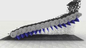 Integration der Rollen-Siebdruckeinrichtung und des Ring-Hammerbrechers für das Kohle-Handhaben des Kraftwerks