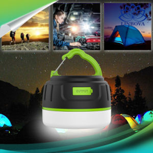 Мини-ярких 5200Мач LED кемпинг фонари освещения для походов в походах чрезвычайных ситуаций портативные фонари Банка питания лампы