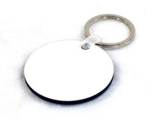 Impressão frente e verso único Round Keychains MDF para venda