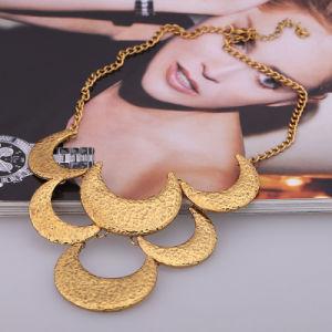 Collana della lega di strato di figura di Monn di stile europeo dell'argento e dell'oro multi