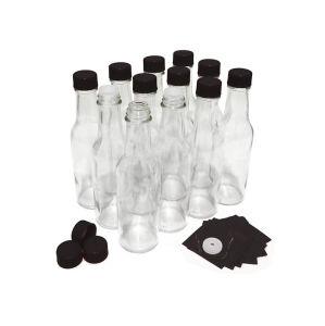 Bottiglie della salsa calda del vetro da bottiglia dalle 5 once 150ml 300ml Tabasco con le protezioni e gli inserti, marche dello Shrink, bottiglie di vetro per la salsa di peperoncino rosso, salsa di pomodori