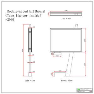 Stahlkonstruktion-im Freienbekanntmachenanschlagtafel