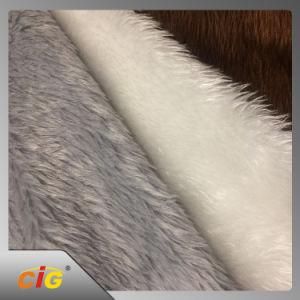 Felpa longa Plush falso tecido de peles com pêlo