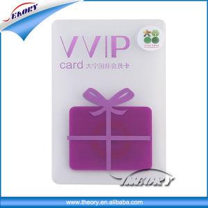 Tarjeta de PVC transparente Tarjetas de visita Tarjetas de membresía de tamaño personalizado
