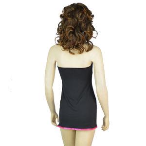Dame élégante noir Nuisette Sexy Sexy Black Lingerie vêtements de nuit de lune de miel