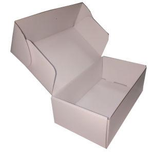 Caixa de papel do lado branco puro da dobra