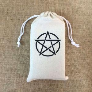 Funda de algodón orgánico promocionales Cordón Bolsas para embalaje de regalo