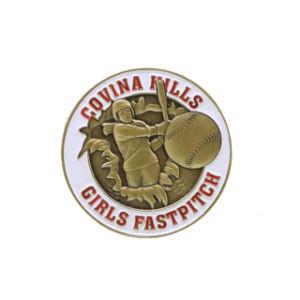 記念品の中心の形の販売のための安いバッジボタンか新型Pinのバッジまたは金属の折りえりPin