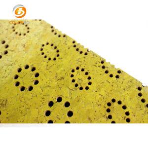 Comitato acustico del legname perforato giallo della pittura
