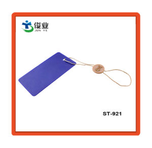 Kundenspezifische MarkeHangtags mit Plastikzeichenkette-Dichtungs-Marke