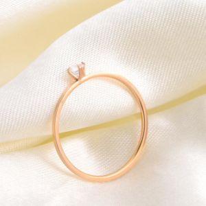 I monili di modo squillano l'anello delle signore del diamante dell'acciaio inossidabile (hdx1151)