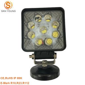 9 Luz de Trabalho LED 27W para Tratores carros 12V 24V trabalhando
