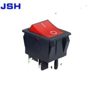 Kcd4 Rojo Dpdt de conmutador on/off 4 Pin 16A/250VAC 20A/125VAC
