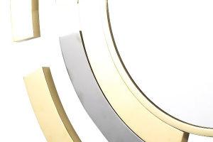 Espelho redondo de aço inoxidável decorativos para a sala de estar