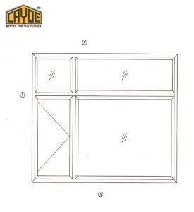 Profilo di alluminio per fare i portelli e Windows