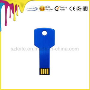 Mini USB ключ формы металлический флэш-накопитель USB для подарки
