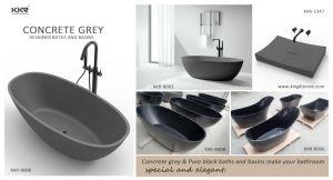 Scarico Della Vasca Da Bagno In Inglese : Vasca da bagno indipendente di superficie solida concreta degli