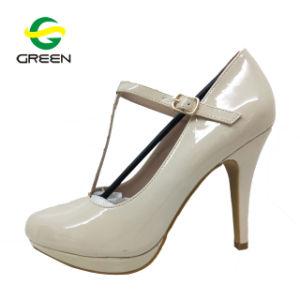 Women's Strappy Chunky haut talon bloc de pompes, Designer talon chaussures femme, Mesdames Souliers et sandales talon