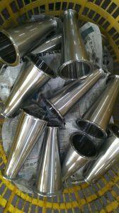 3a de acero inoxidable de grado alimenticio reductor de la colocación del tubo soldado concéntricos