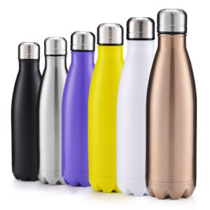 4 Fles van het Water van de Golf van de grootte de Eenvoudige Moderne, de Lekvrije Vacuüm Geïsoleerde Dubbele Fles van het Roestvrij staal van de Muur