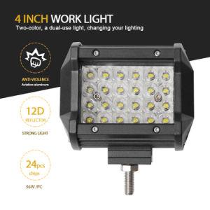 In het groot Offroad Reflector 4 van de Flits van de Stroboscoop van de Kleur van de Vrachtwagen Dubbele Lichte 12D leiden die van de Rij 30W de 4 LEIDENE van de Duim Lichte Staaf van het Werk drijven