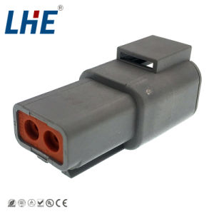 Te Dt04-2p 2 Pin PA66はアクセサリの自動電気コネクタを防水する