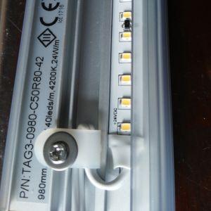 El voltaje de entrada de 24cc el candor de la luz de la etiqueta de estante de LED