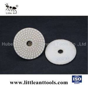 3インチの白いカラーのぬれた樹脂のダイヤモンドの磨くパッド