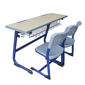 School Student Double Table et chaise Meubles de salle de classe