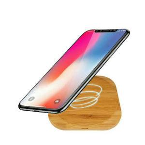 Qi-drahtlose Aufladeeinheit für iPhone hölzerne drahtlose schnelle Aufladeeinheits-bewegliche drahtlose allgemeinhinaufladeeinheit für Samsung
