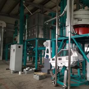 100t Linhas de moinho de milho para a Nigéria, África do Sul