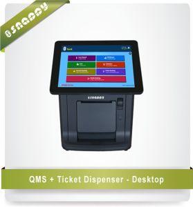 Formati differenti del  server  di Qms con il tavolo dell'erogatore del biglietto ed i modelli diritti liberi