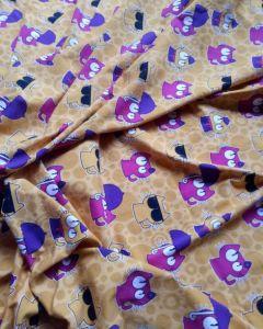Impressão Digital 95/5 cotton lycra Fabric/Algodão tricotado Jersey tecido de algodão orgânico para Kid Pano Macio