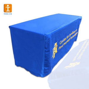 商業テーブルクロスの高品質のベストセラーを広告する熱転送の布ポリエステル印刷の伸張の正方形の刺繍