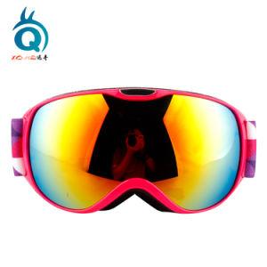Lente esférica espelhado óculos de esqui de revestimento magnético