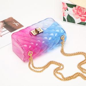 En stock Couleur de la vente au détail de bonbons Jelly Sac pour Fille avec chaîne en métal