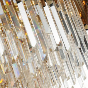 Postmodern Minimalistische Creatieve Noordse Eetkamer van de Woonkamer om de Kroonluchter van het Kristal van de Villa