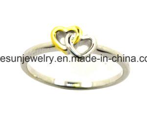925銀製の宝石類の倍の中心のリング