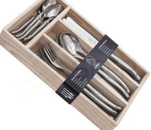 24 cucharas francesas de la cena de Laguiole de los pedazos fijadas (SE-K55)