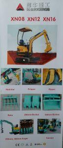 GLEISKETTEN-Exkavator-Cer des Nashorn-Xn08 800kgs genehmigte Mini