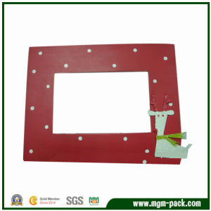 Cartoon Patternの美しいRed Wooden Picture Frame