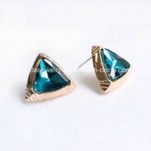 WomenのためのGlass Stud Earringsの宝石類Gold Plated