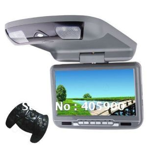 USB/SD/IR/FM Transmitter/32bits Games를 가진 HD 9 Inch Car Flip Down/Roof Mount DVD Player