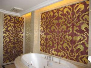 Gouden Mozaiek Tegels : Gouden mozaïek de tegel van de muur van het mozaïek van de kunst