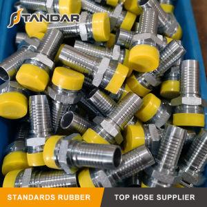 La presión hidráulica de acero inoxidable acoplador rápido usado en la manguera de goma