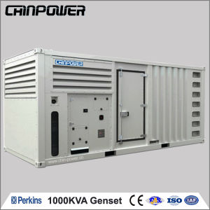 1000kVA (800kw) Groupe électrogène Diesel Perkins de type silencieux qui a de nombreux avantages de l'auvent