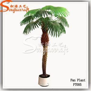 Direto da fábrica em fibra de ventilador Artificial Palm Bonsai Tree