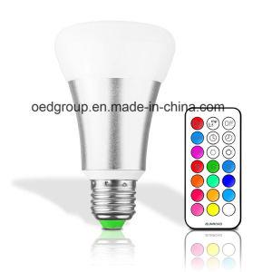 10W longa vida útil da lâmpada LED RGB E27/B22 Lâmpada Lâmpada LED